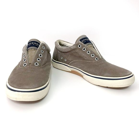 Mens Brown Nolace Loafer Sneakers Sz 8m